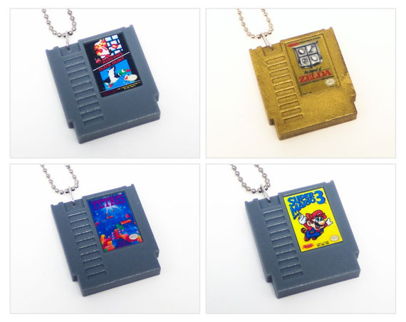 Retro Game Cartridge keychains
