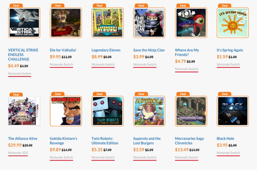 Nintendo E-shop Deals